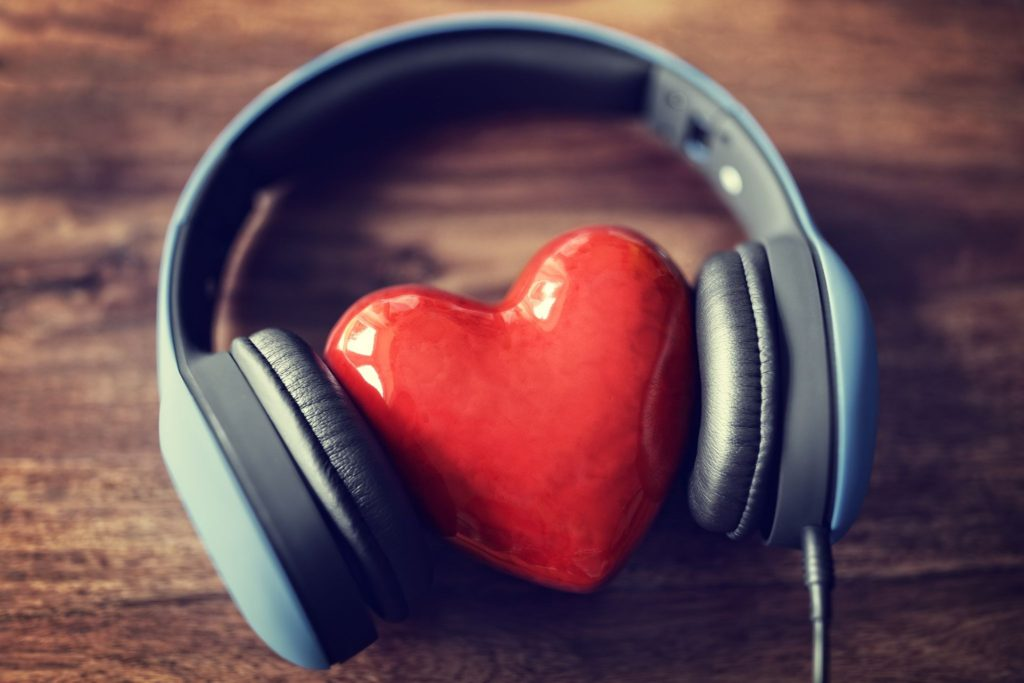Headphones-and-heart